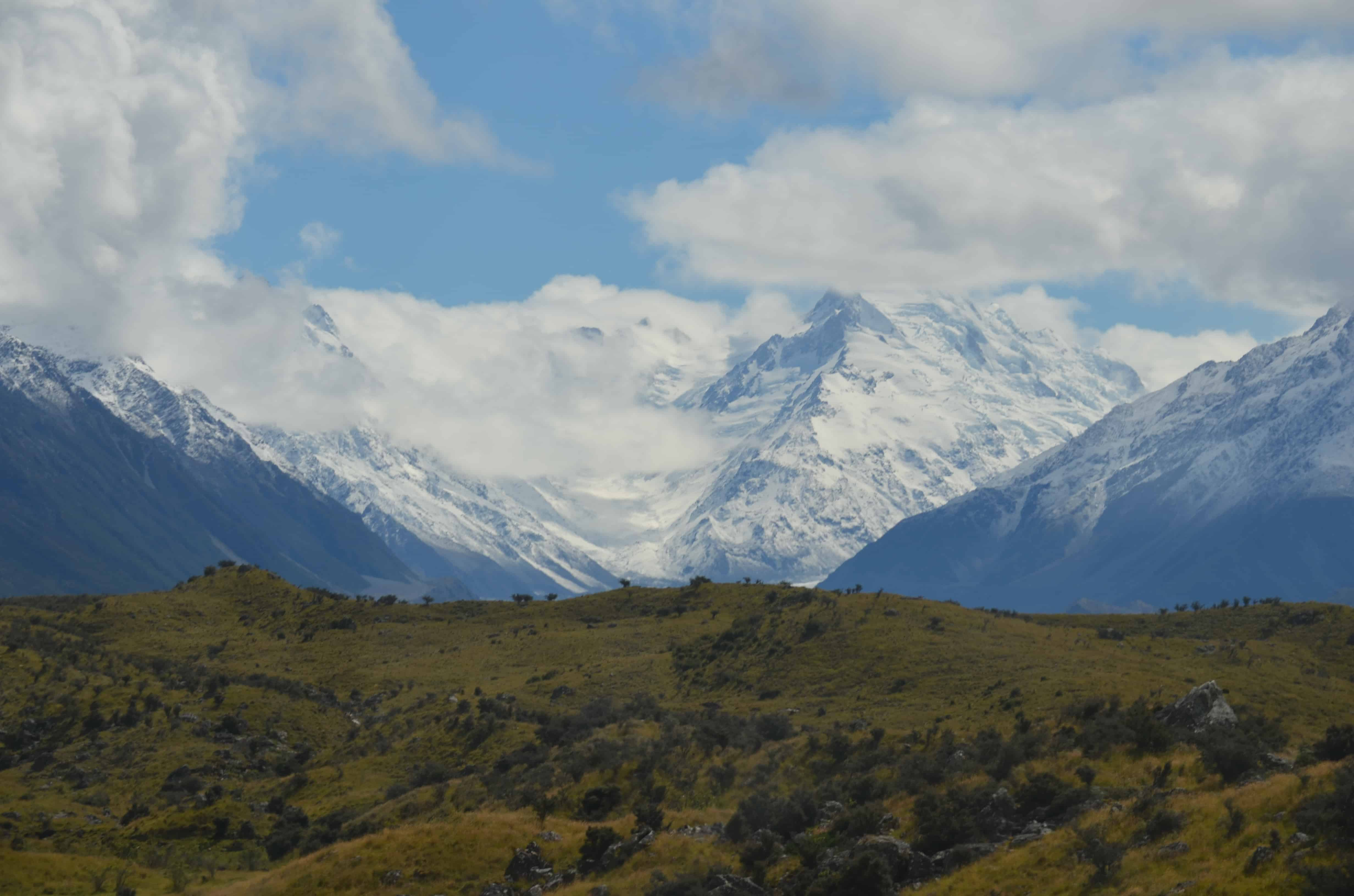 On the way to Mt. Cook